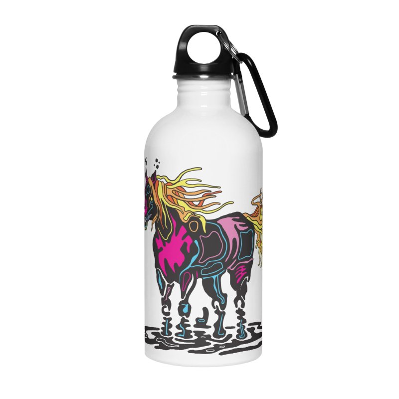 Pooka Horse Accessories Water Bottle by My Metal Hand Artist Shop