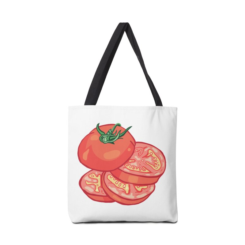 Sliced Homegrown Tomato Accessories Bag by My Metal Hand Artist Shop