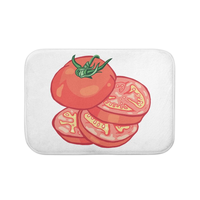 Sliced Homegrown Tomato Home Bath Mat by My Metal Hand Artist Shop