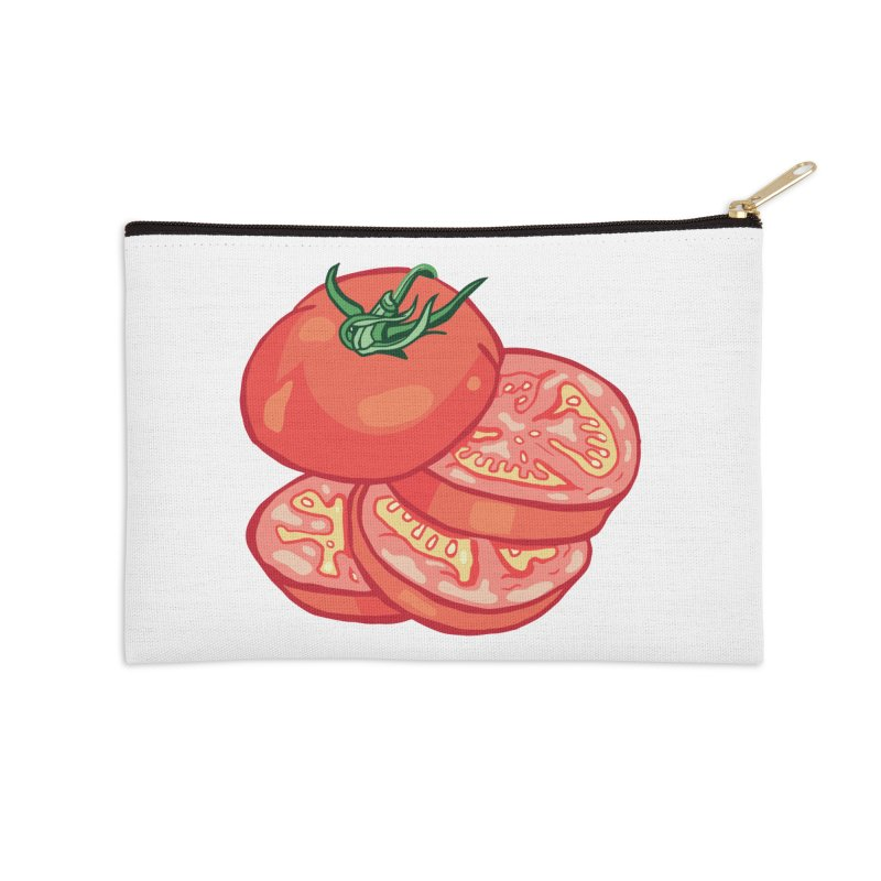 Sliced Homegrown Tomato Accessories Zip Pouch by My Metal Hand Artist Shop