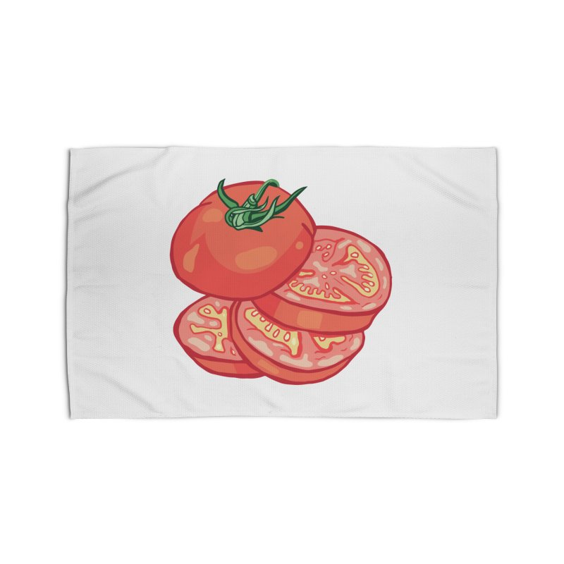 Sliced Homegrown Tomato Home Rug by My Metal Hand Artist Shop