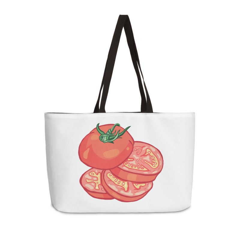 Sliced Homegrown Tomato Accessories Weekender Bag Bag by My Metal Hand Artist Shop