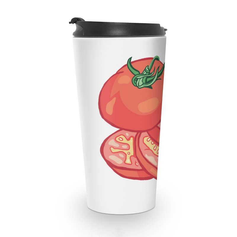 Sliced Homegrown Tomato Accessories Travel Mug by My Metal Hand Artist Shop
