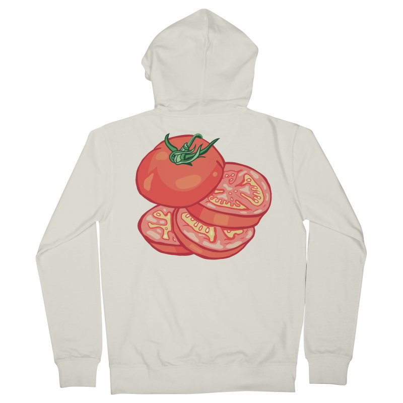 Sliced Homegrown Tomato Men's French Terry Zip-Up Hoody by My Metal Hand Artist Shop