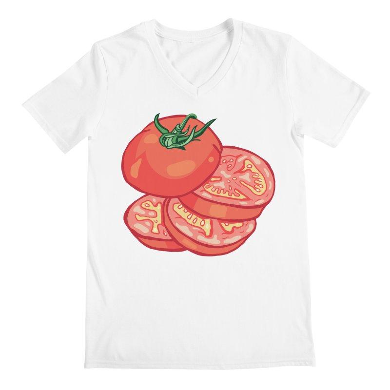 Sliced Homegrown Tomato Men's Regular V-Neck by My Metal Hand Artist Shop