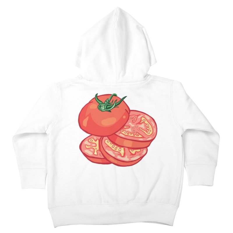 Sliced Homegrown Tomato Kids Toddler Zip-Up Hoody by My Metal Hand Artist Shop