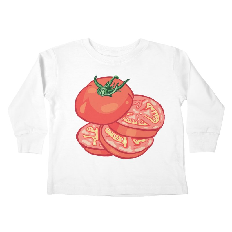 Sliced Homegrown Tomato Kids Toddler Longsleeve T-Shirt by My Metal Hand Artist Shop
