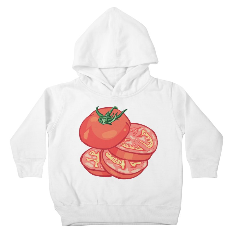 Sliced Homegrown Tomato Kids Toddler Pullover Hoody by My Metal Hand Artist Shop