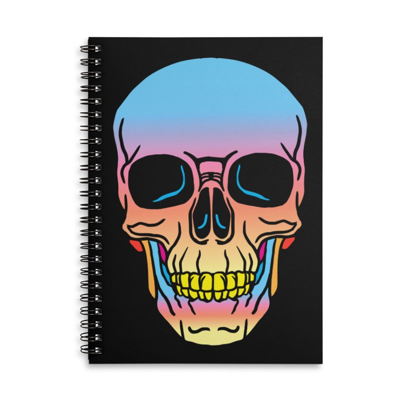 Spectrum Skull Accessories Lined Spiral Notebook by My Metal Hand Artist Shop