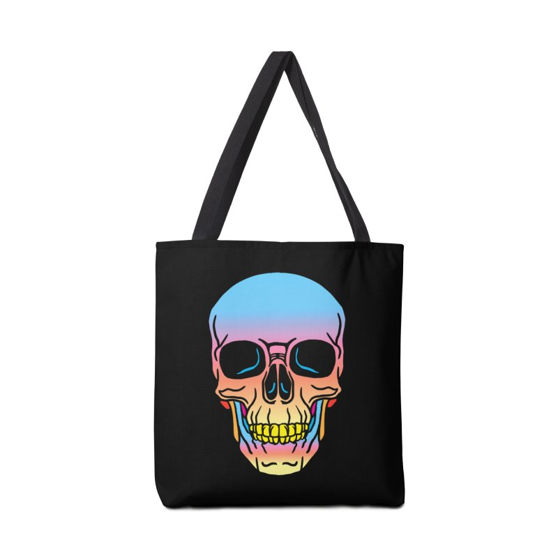 Spectrum Skull Accessories Tote Bag Bag by My Metal Hand Artist Shop