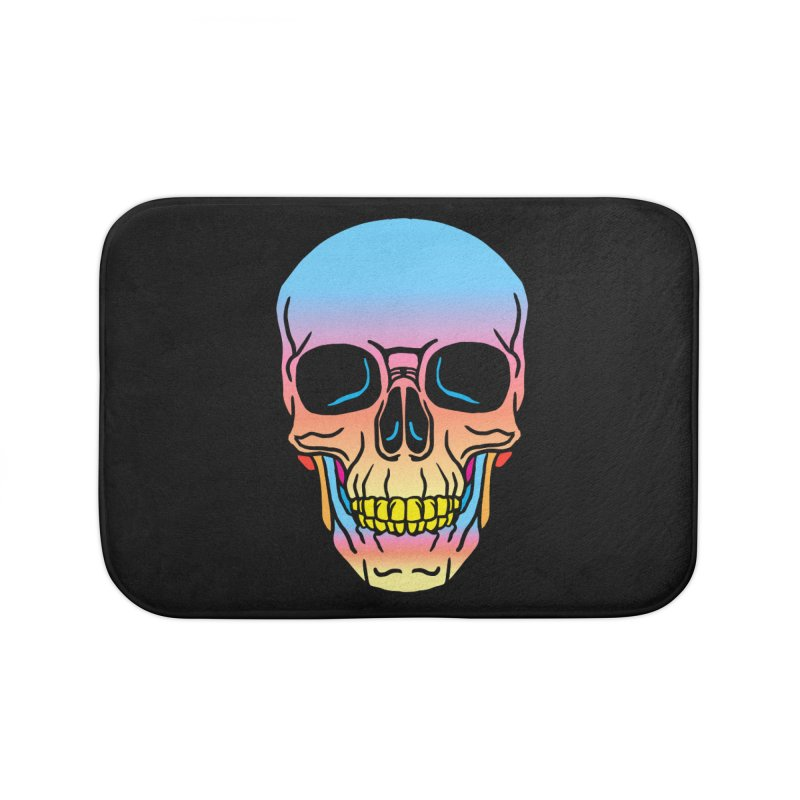 Spectrum Skull Home Bath Mat by My Metal Hand Artist Shop
