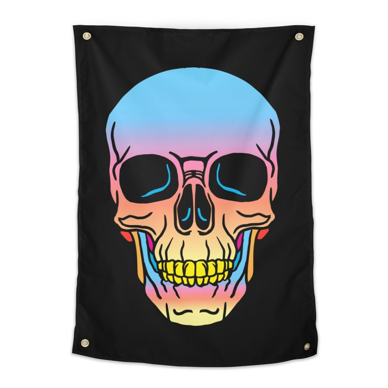 Spectrum Skull Home Tapestry by My Metal Hand Artist Shop