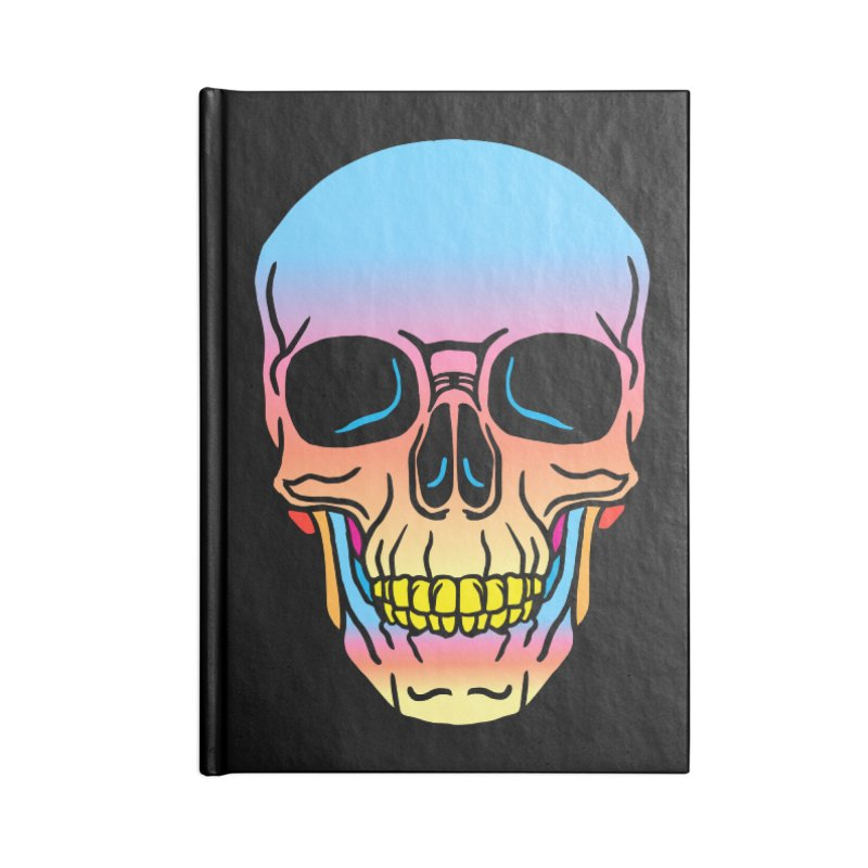 Spectrum Skull Accessories Lined Journal Notebook by My Metal Hand Artist Shop