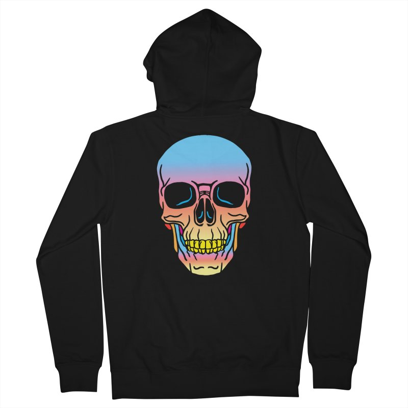 Spectrum Skull Men's French Terry Zip-Up Hoody by My Metal Hand Artist Shop