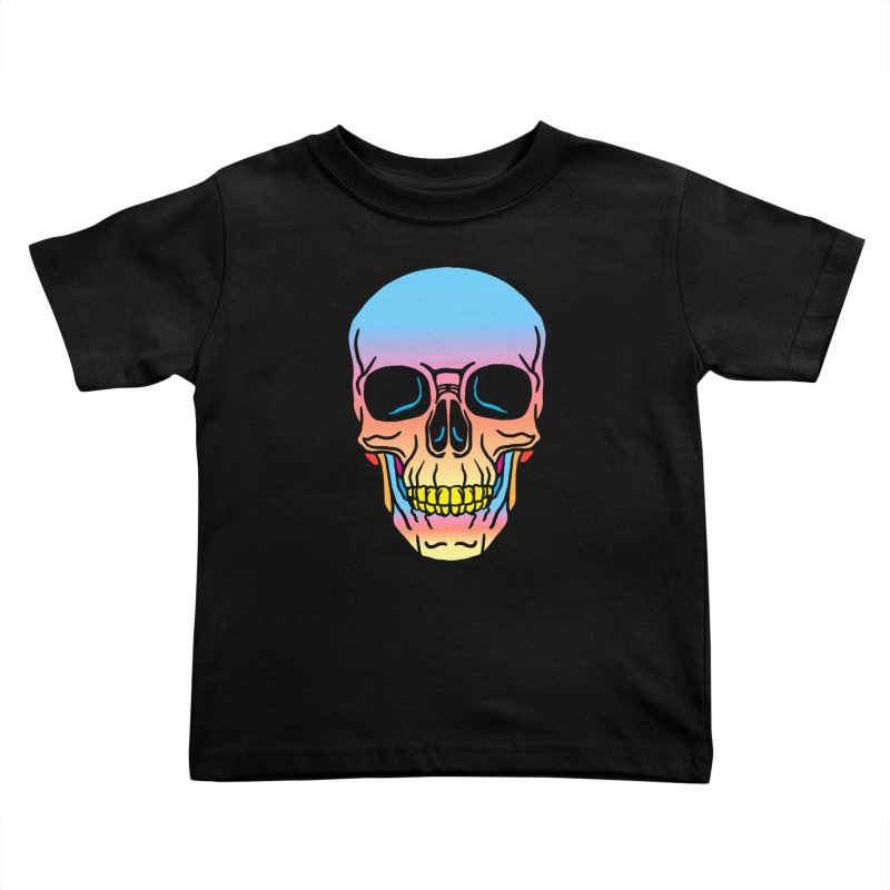 Spectrum Skull Kids Toddler T-Shirt by My Metal Hand Artist Shop