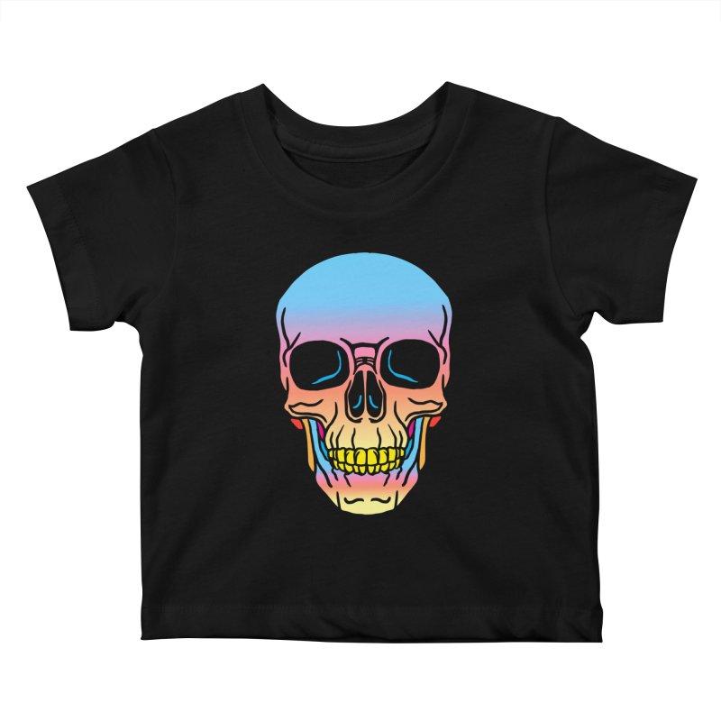 Spectrum Skull Kids Baby T-Shirt by My Metal Hand Artist Shop