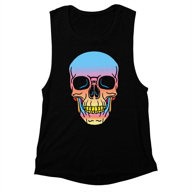 Spectrum Skull Women's Muscle Tank by My Metal Hand Artist Shop