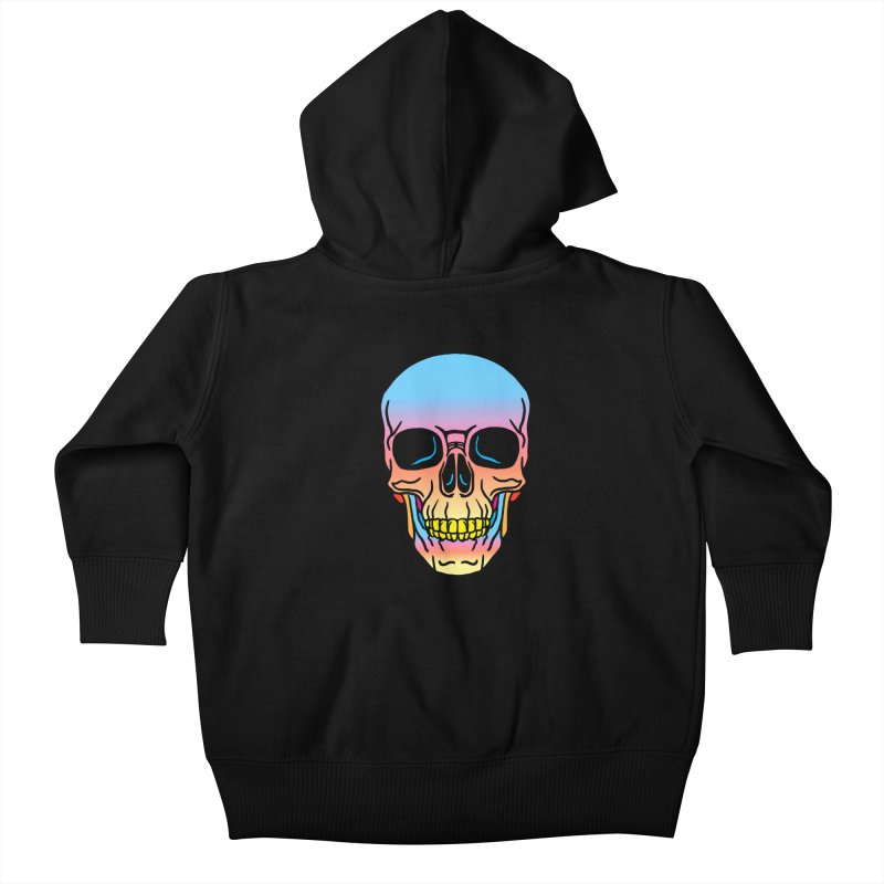 Spectrum Skull Kids Baby Zip-Up Hoody by My Metal Hand Artist Shop