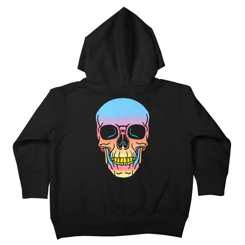 Spectrum Skull Kids Toddler Zip-Up Hoody by My Metal Hand Artist Shop