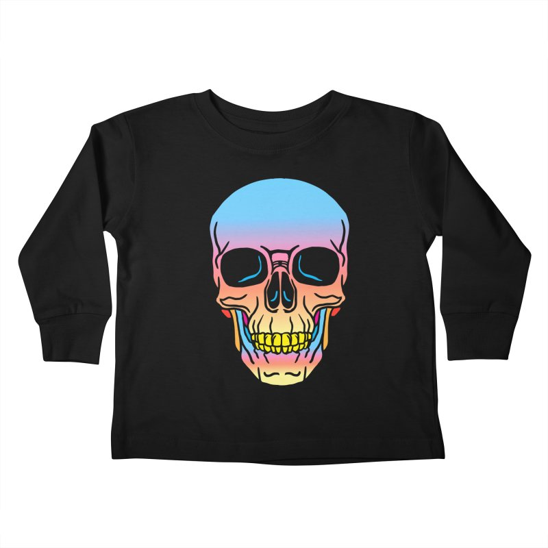 Spectrum Skull Kids Toddler Longsleeve T-Shirt by My Metal Hand Artist Shop