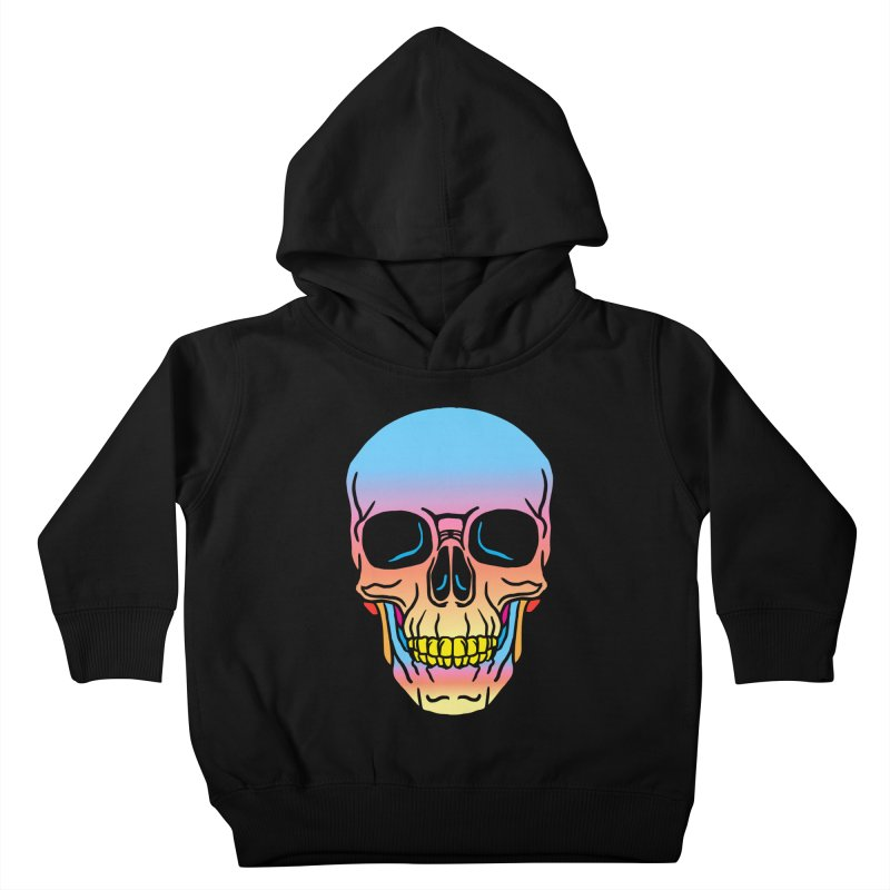 Spectrum Skull Kids Toddler Pullover Hoody by My Metal Hand Artist Shop