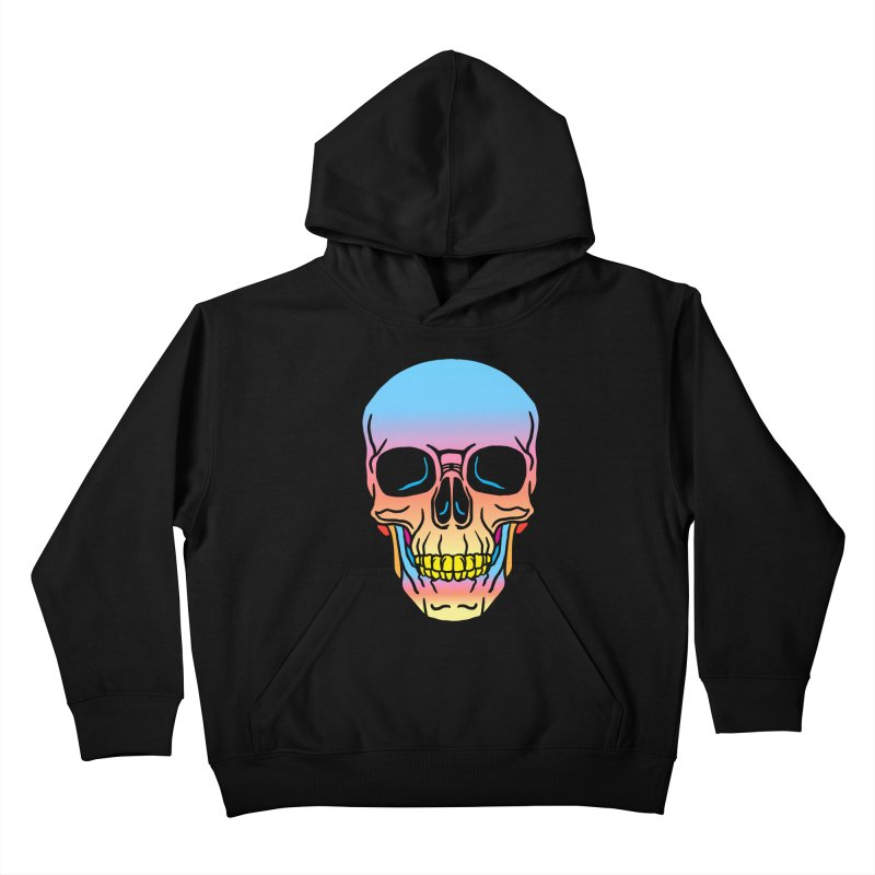 Spectrum Skull Kids Pullover Hoody by My Metal Hand Artist Shop