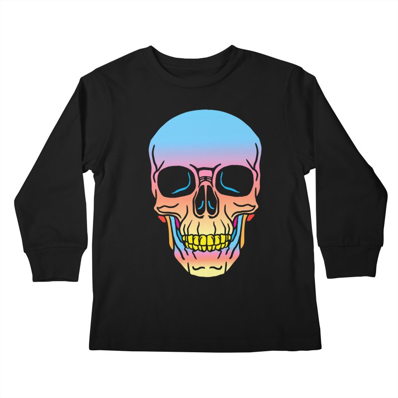 Spectrum Skull Kids Longsleeve T-Shirt by My Metal Hand Artist Shop