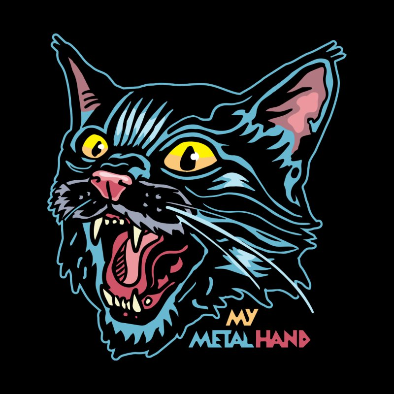 Angry Cat MMH Kids T-Shirt by My Metal Hand Artist Shop