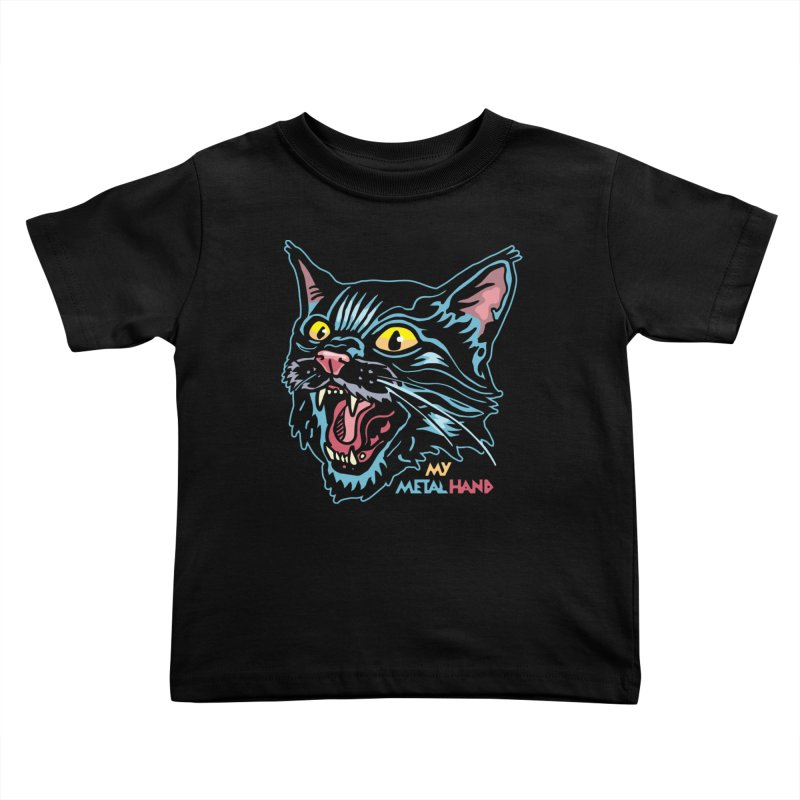 Angry Cat MMH Kids Toddler T-Shirt by My Metal Hand Artist Shop