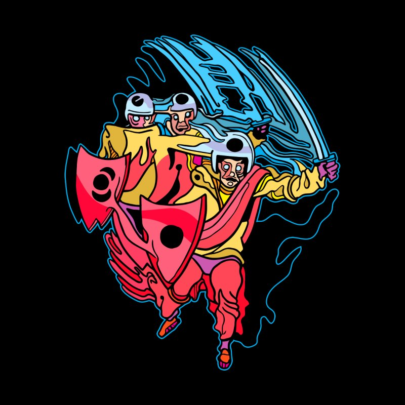 Warrior Pig Men's T-Shirt by My Metal Hand Artist Shop