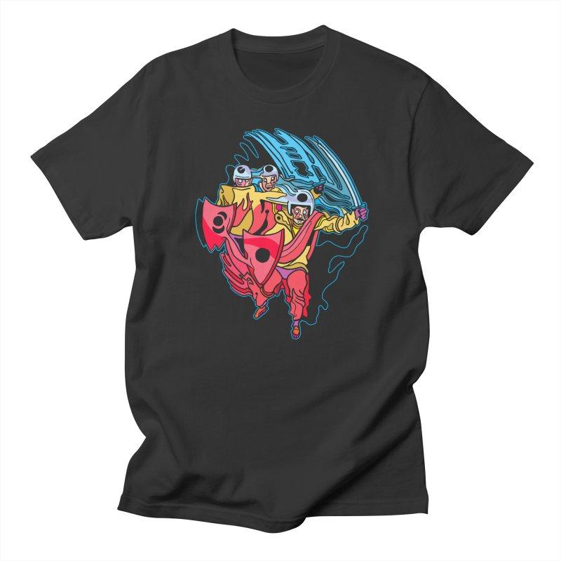 Warrior Pig Men's T-Shirt by My Metal Hand Artist Shop