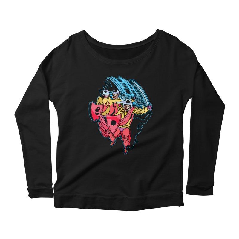 Warrior Pig Women's Scoop Neck Longsleeve T-Shirt by My Metal Hand Artist Shop