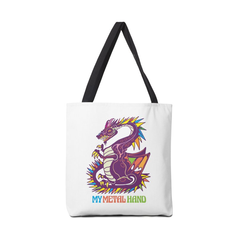 Dragon MMH Accessories Tote Bag Bag by My Metal Hand Artist Shop