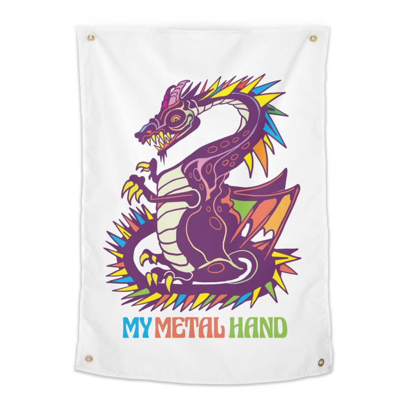 Dragon MMH Home Tapestry by My Metal Hand Artist Shop
