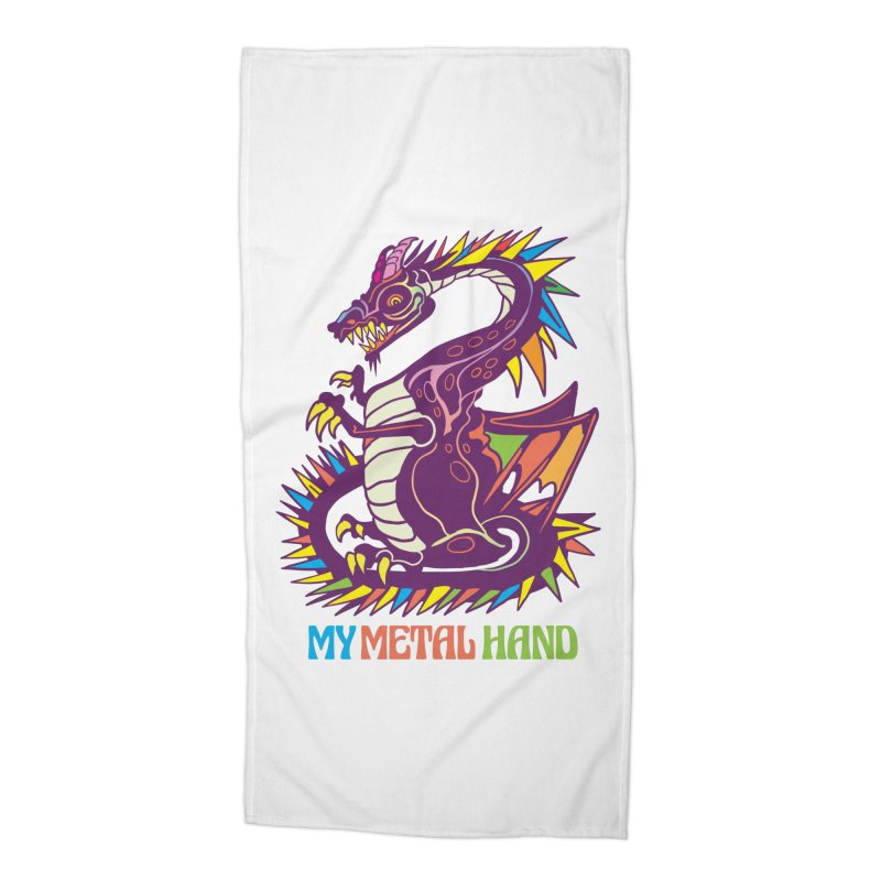 Dragon MMH Accessories Beach Towel by My Metal Hand Artist Shop
