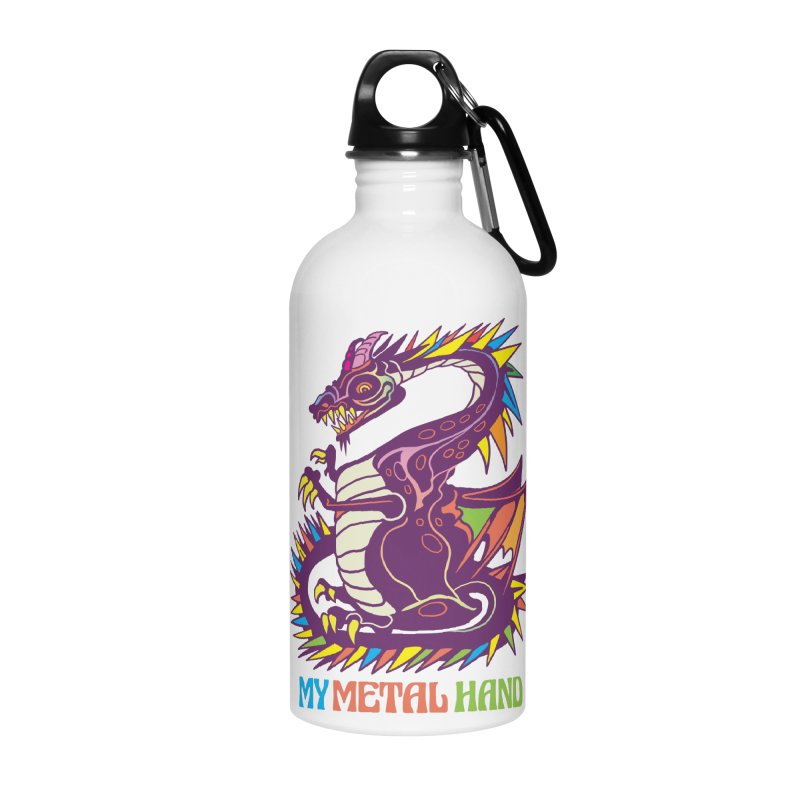 Dragon MMH Accessories Water Bottle by My Metal Hand Artist Shop