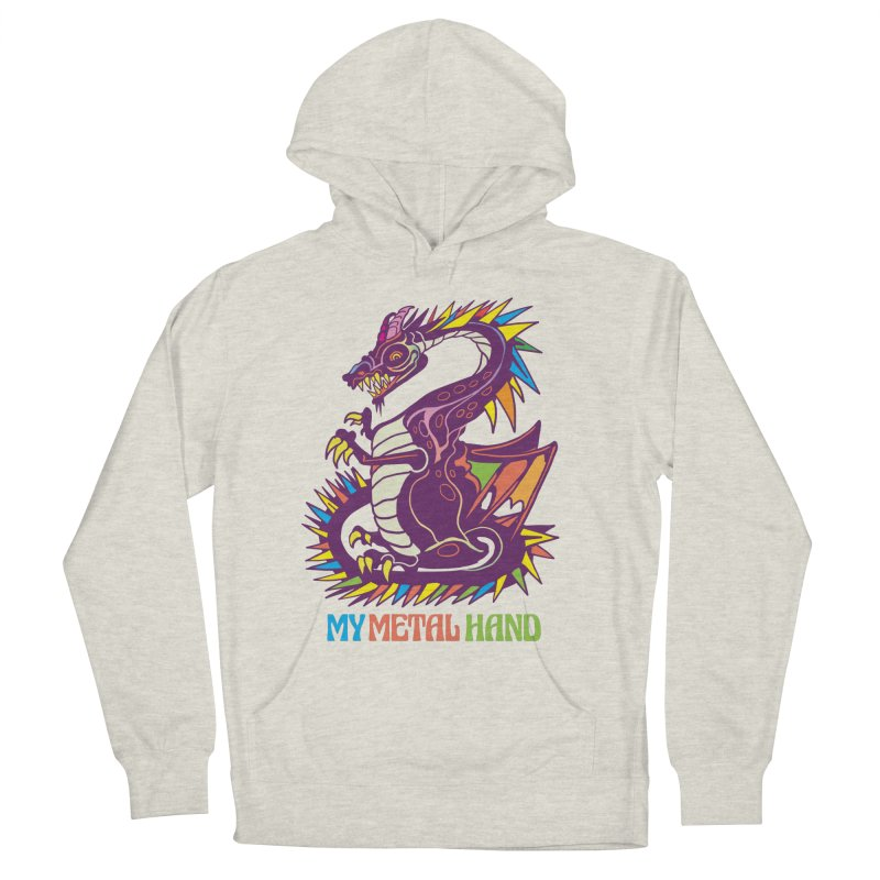 Dragon MMH Women's French Terry Pullover Hoody by My Metal Hand Artist Shop