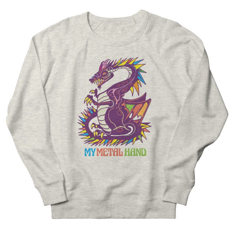Dragon MMH Men's French Terry Sweatshirt by My Metal Hand Artist Shop
