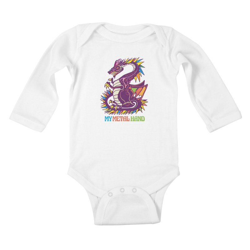 Dragon MMH Kids Baby Longsleeve Bodysuit by My Metal Hand Artist Shop
