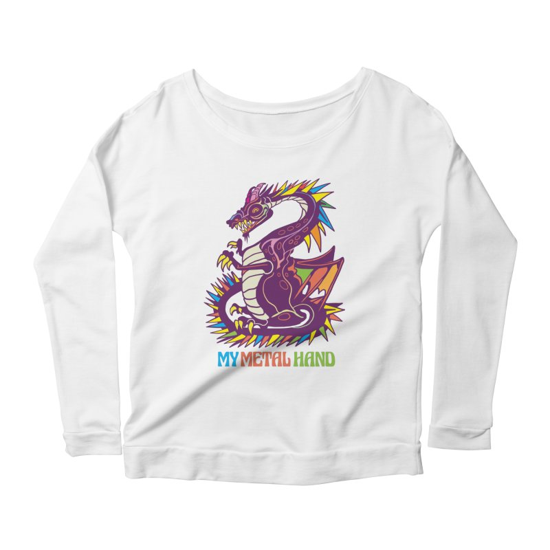 Dragon MMH Women's Scoop Neck Longsleeve T-Shirt by My Metal Hand Artist Shop