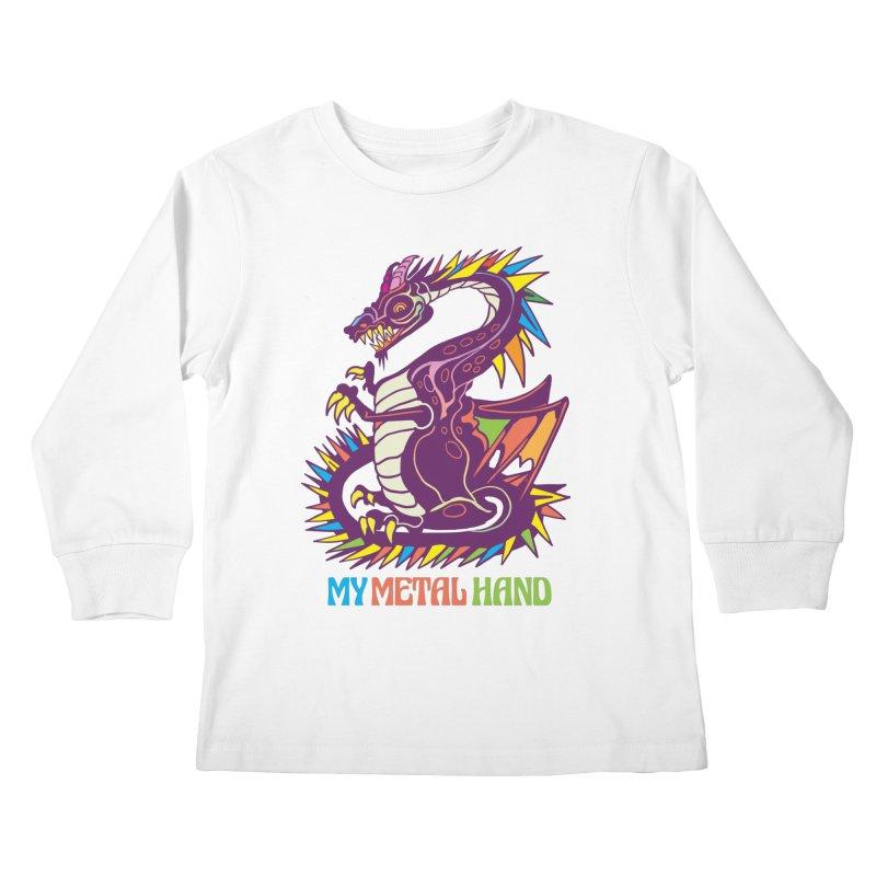 Dragon MMH Kids Longsleeve T-Shirt by My Metal Hand Artist Shop