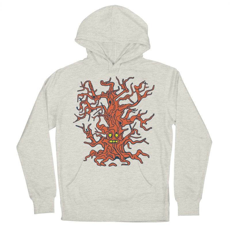 Spirit Tree Men's French Terry Pullover Hoody by My Metal Hand Artist Shop