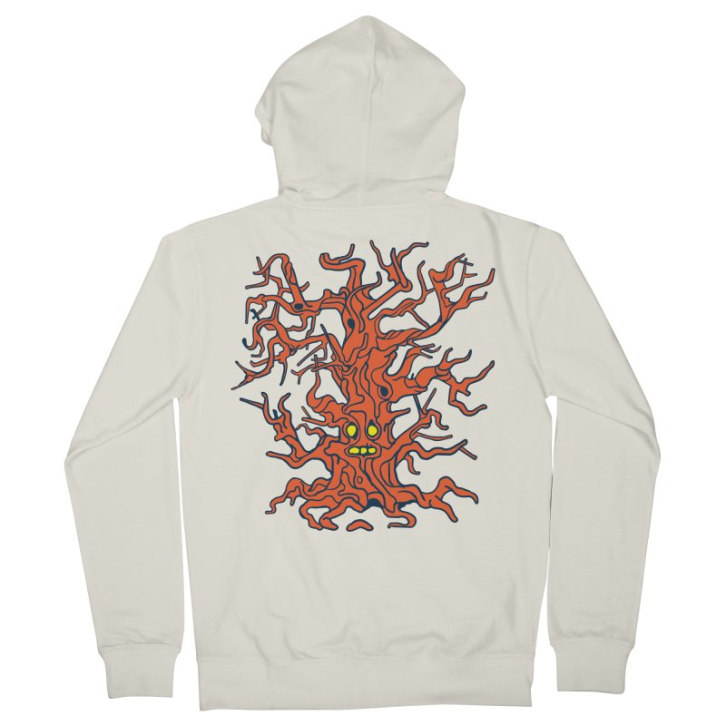 Spirit Tree Men's French Terry Zip-Up Hoody by My Metal Hand Artist Shop