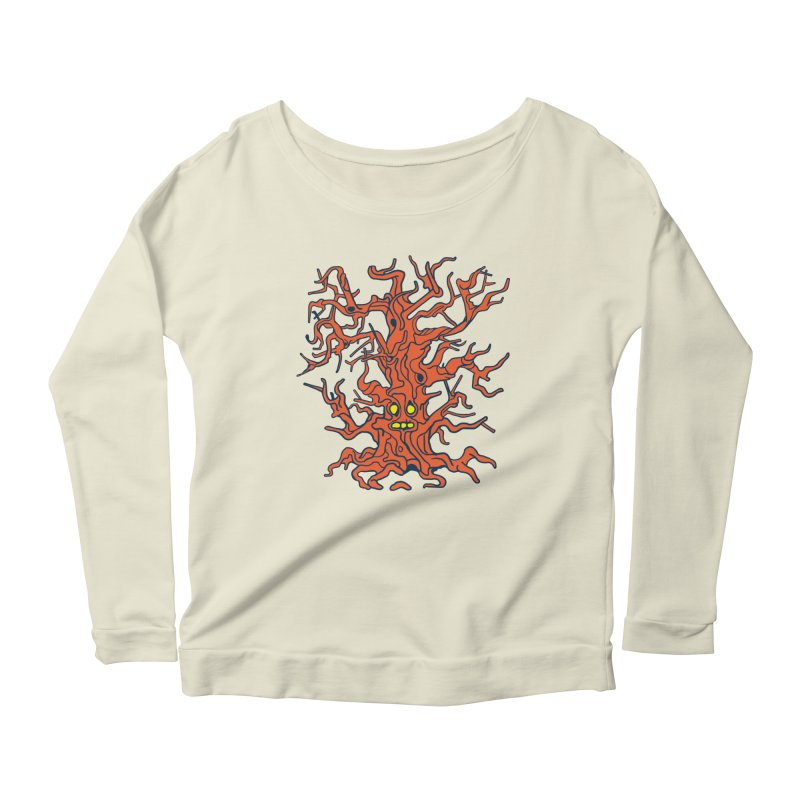 Spirit Tree Women's Scoop Neck Longsleeve T-Shirt by My Metal Hand Artist Shop