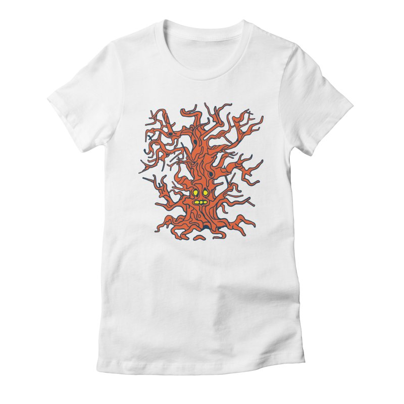 Spirit Tree Women's Fitted T-Shirt by My Metal Hand Artist Shop