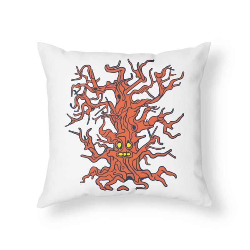 Spirit Tree Home Throw Pillow by My Metal Hand Artist Shop