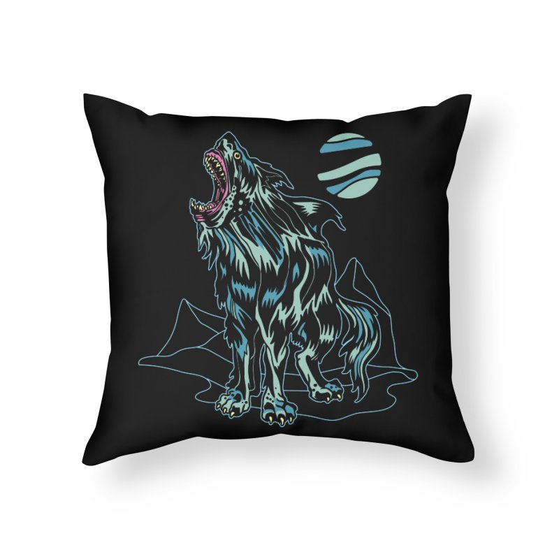 Shark Wolf 2018 Home Throw Pillow by My Metal Hand Artist Shop