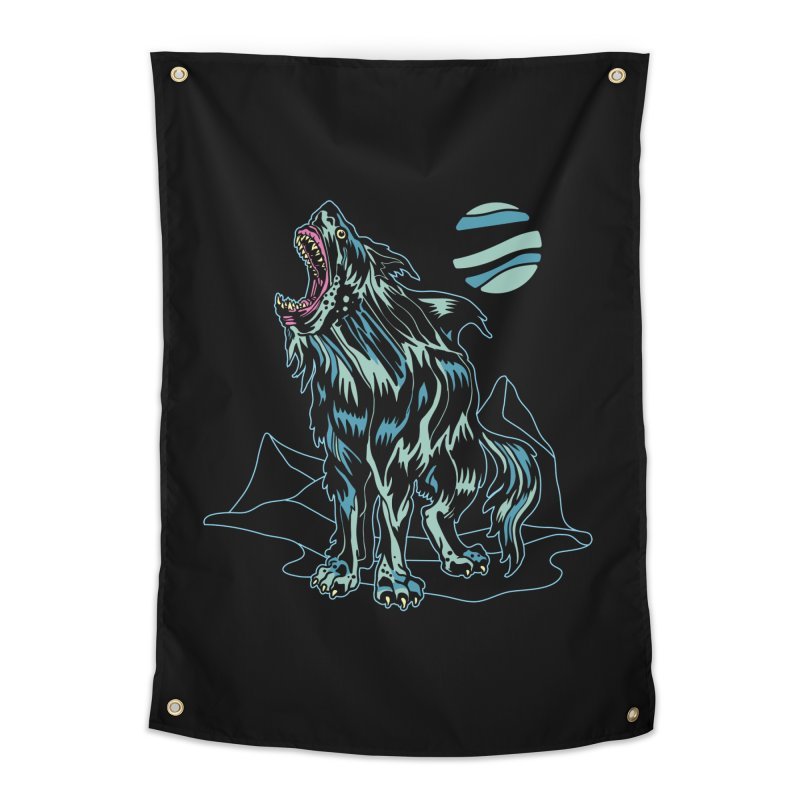 Shark Wolf 2018 Home Tapestry by My Metal Hand Artist Shop