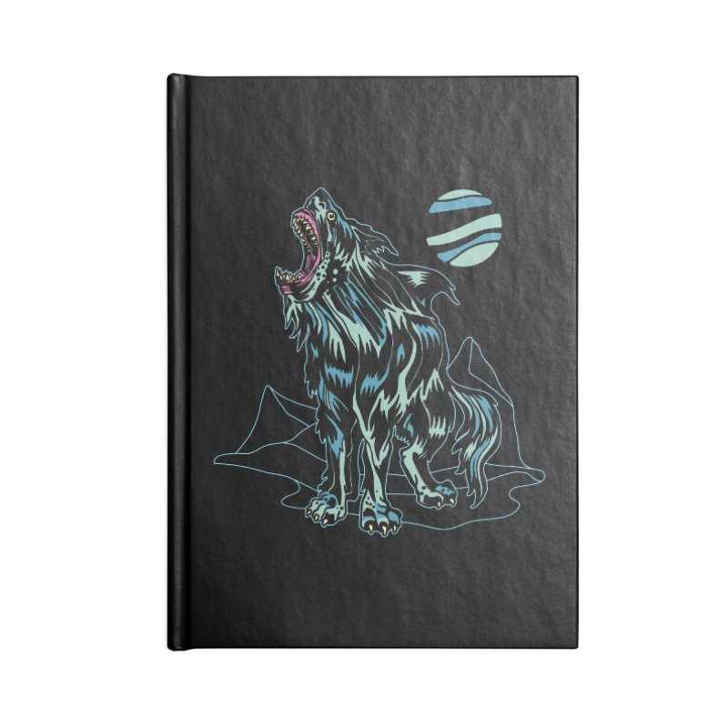 Shark Wolf 2018 Accessories Blank Journal Notebook by My Metal Hand Artist Shop