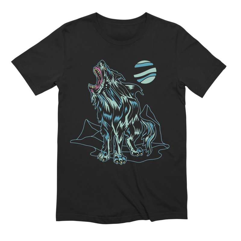 Shark Wolf 2018 Men's T-Shirt by My Metal Hand Artist Shop